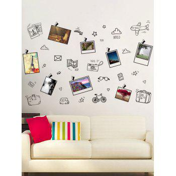 Removable Travel Plans Notes Print Wall Sticker