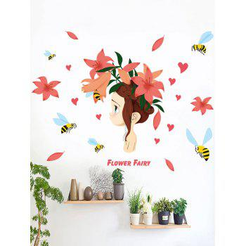 Flower Fairy Removable Wall Stickers For Bedroom