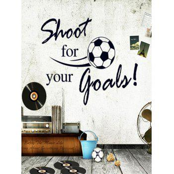 Shoot For Your Goals Football Quotes Removable Wall Sticker