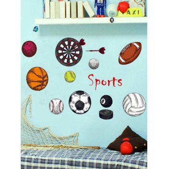 Sport Print Children Room Decor Wall Sticker Set