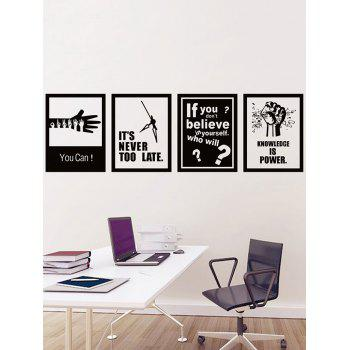 Removable Encourage Quotes Print Wall Stickers Set