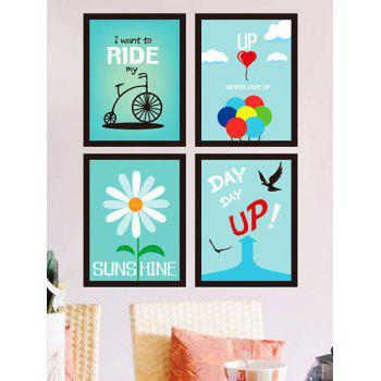 Decoration 4 Pieces Encourage Quote Wall Sticker Set