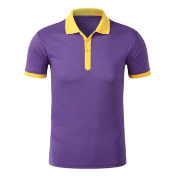 Contrast Trim Half Button Golf Shirt
