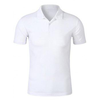 Half Buttoned Plain Golf Shirt