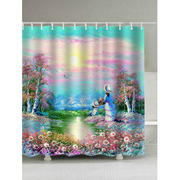 Dreamy Garden Painting Shower Curtain