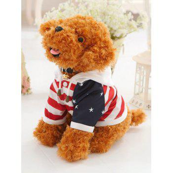 Dressed Star Stripe Hooded Teddy Dog Toy