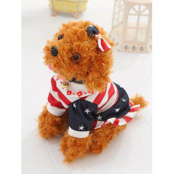 Dressed Floral Print Peter Pan Collar Bowknot Teddy Dog Toy