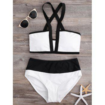 Two Tone Cut Out Bikini