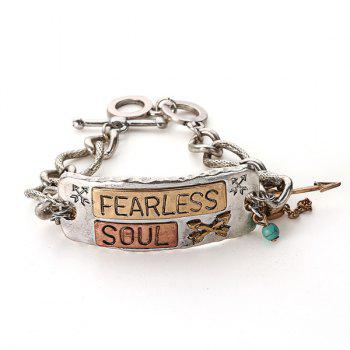 Arrow Link Chain Letters Engraved Bracelet