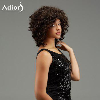 Adiors Medium Curly Hairstyle Capless Fluffy Synthetic Wig