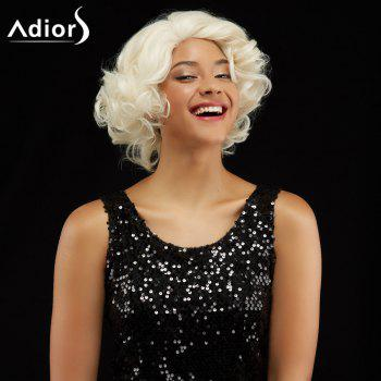 Adiors Short Curly Hairstyle Side Bang Fluffy Synthetic Wig