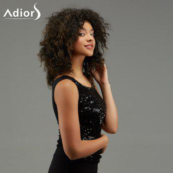 Adiors Synthetic Medium Curled Hairstyle Fluffy Afro Wig