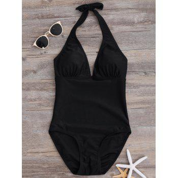 Plunging Neck Cut Out One Piece Swimwear