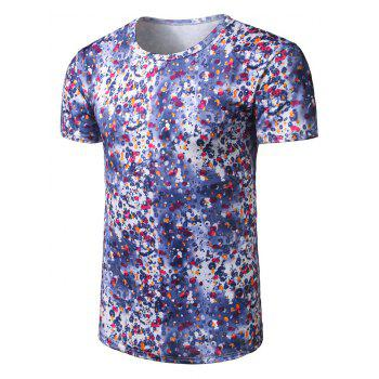 Scattered Water Drops Printed T-Shirt