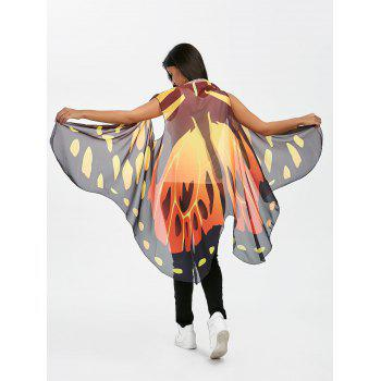 Sleeveless Voile Butterfly Wing Cape Pashmina