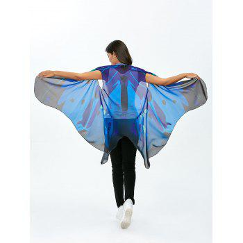 Tulle Sleeveless Butterfly Wing Cape Pashmina