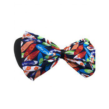 Bowknot Floral Bandeau Bikini Top - BLUE/ORANGE L