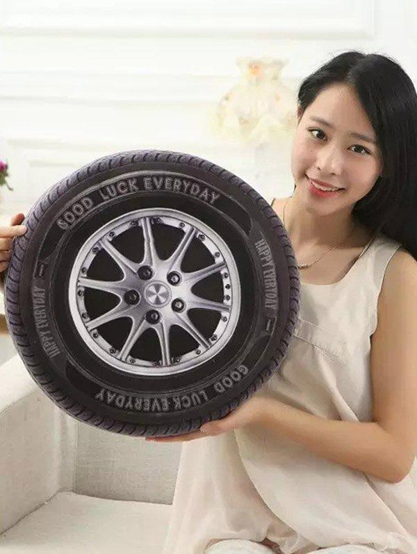 Creative 3D Simulation Wheel Tires Plush Cushion Throw Pillow 1pcs 52 26cm creative novelty item funny women big mouth shape cushion pink red lip plush toy throw pillow for couch pregnancy