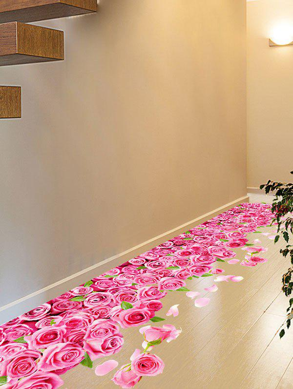 3D Blooming Rose Interior Removable Wall Sticker 3d blooming rose interior removable wall sticker