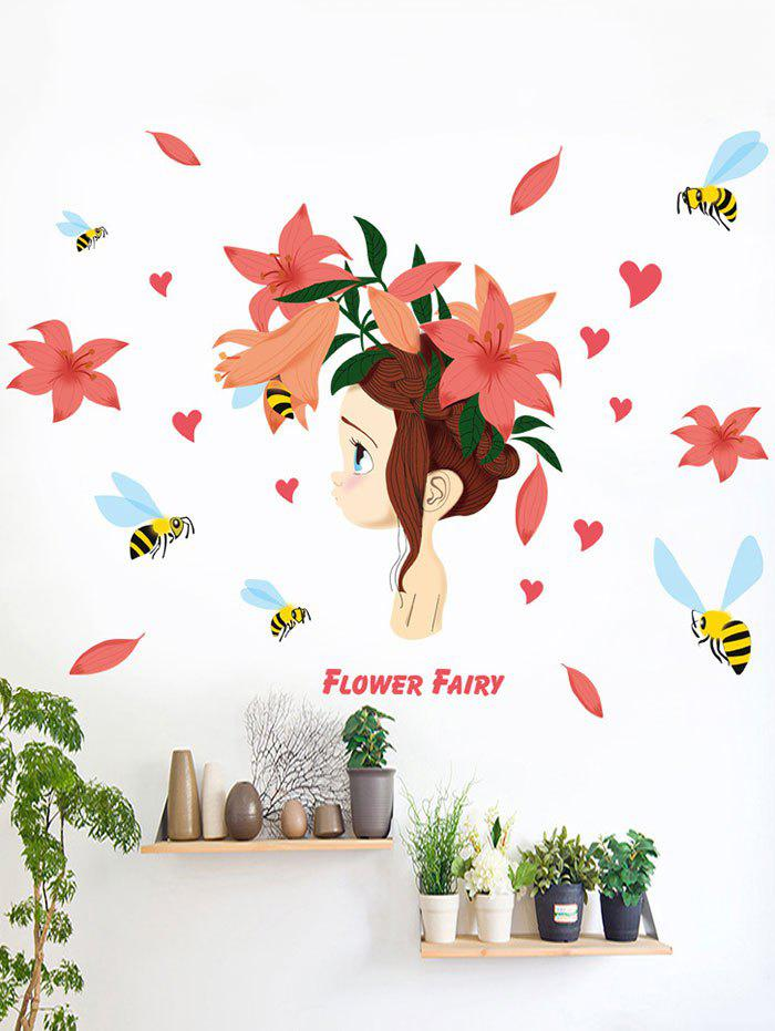 Flower Fairy Removable Wall Stickers For Bedroom family wall quote removable wall stickers home decal art mural