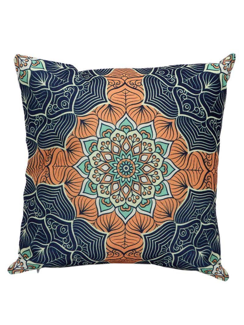 Ethnic Printed Linen Cushion Cover Pillow Case handpainted birds and leaf branch printed pillow case