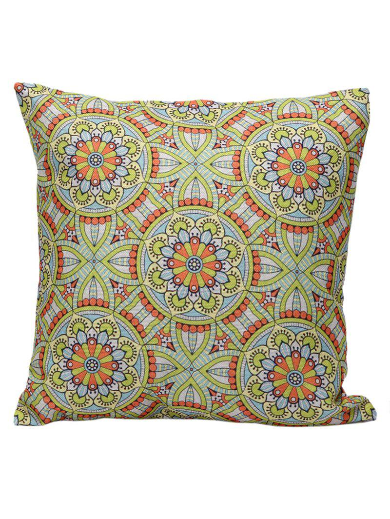 Ethnic Style Flower Print Cushion Cover Pillowcase volume print pillowcase cover 1pc