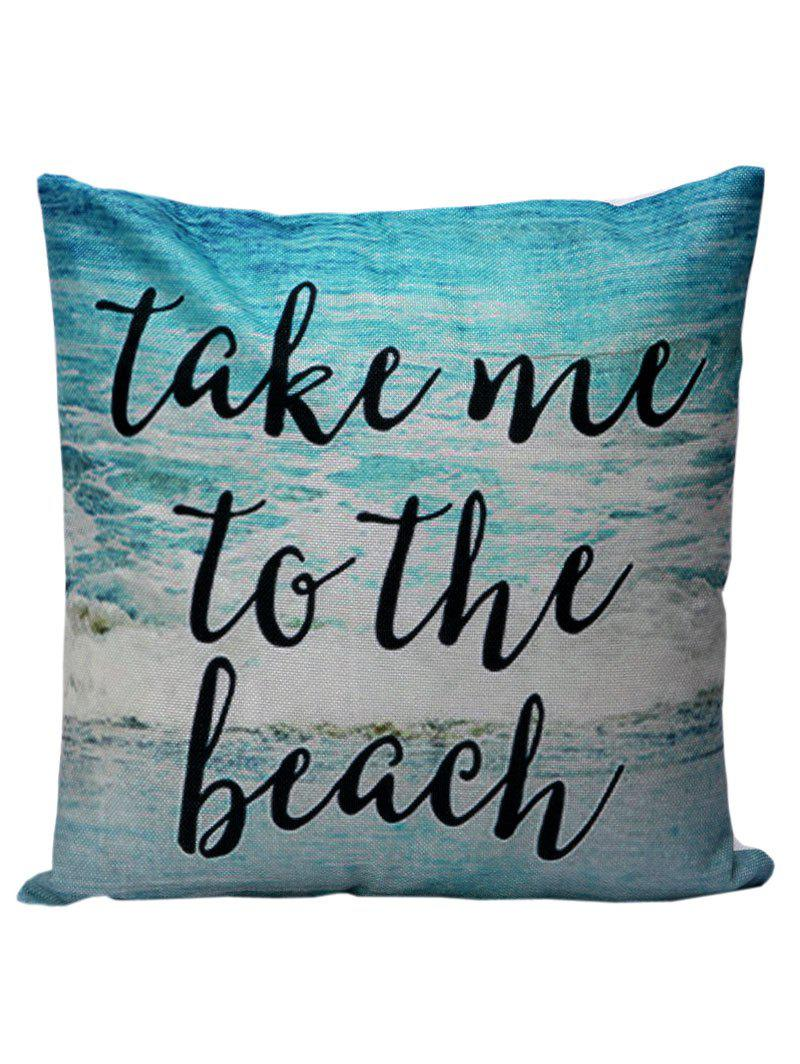 Letter Beach Decorative Throw Pillow Cover