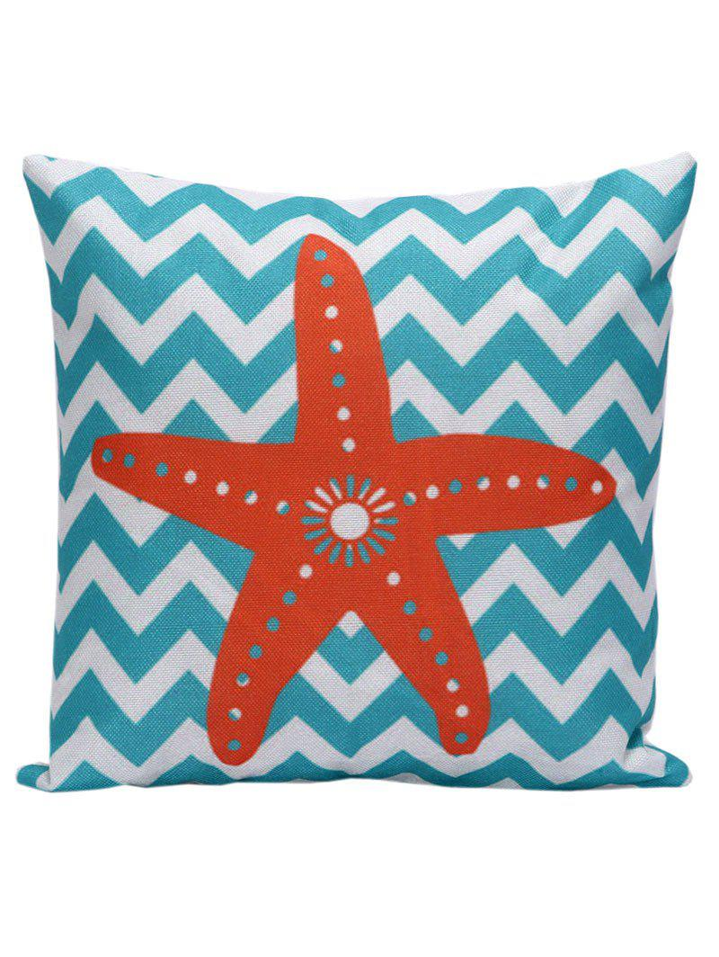 Starfish Wavy Decorative Throw Cover Pillow Case