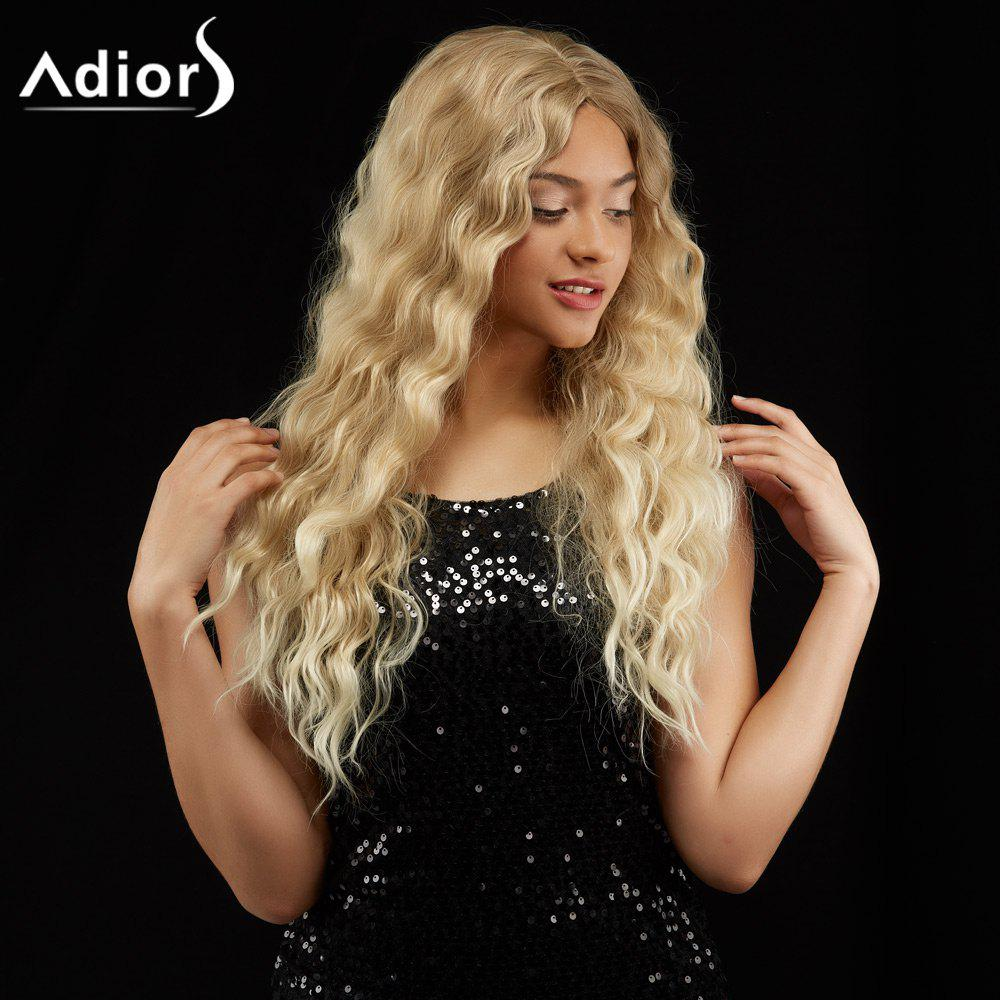 Adiors Long Wavy Shaggy Centre Parting Synthetic Wig adiors long middle parting shaggy wavy color mix synthetic party wig