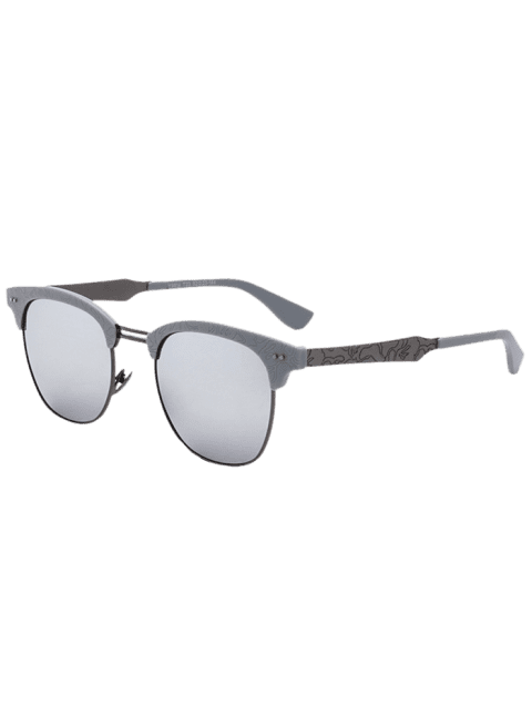 b6c4b16973 2019 Butterfly Mirrored Sunglasses with Carve Leg In SILVER ...