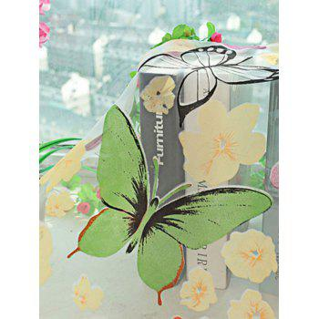 Butterfly Print Sheer Tulle Window Curtain - COLORFUL W42 INCH* L95 INCH