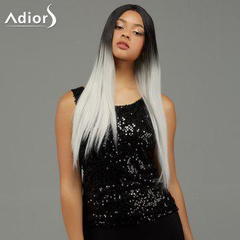 Adiors Long Straight Gradient Centre Parting Synthetic Wig