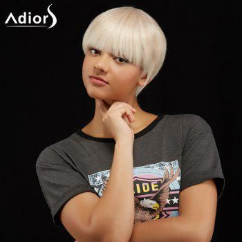 Adiors Short Full Bang Silky Straight Hairstyle Synthetic Wig