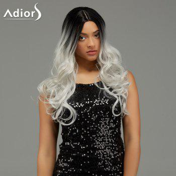 Adiors Long Wavy Middle Parting Gradient Synthetic Wig -  COLORMIX