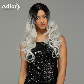 Adiors Long Wavy Middle Parting Gradient Synthetic Wig - COLORMIX COLORMIX