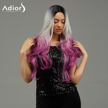 Adiors Wavy Ombre Middle Part Long Synthetic Wig - COLORMIX COLORMIX