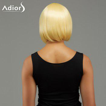 Adiors Short Rainbow Side Bang Gradient Straight Party Synthetic Wigs - COLORMIX
