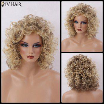 Siv Hair Medium Capless Shaggy Curly Human Hair Wig
