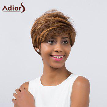 Adiors Short Layered Cut Oblique Bang Synthetic Wig