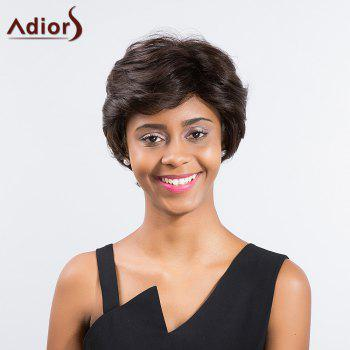 Adiors Short Slightly Curly Side Bang Capless Synthetic Wig