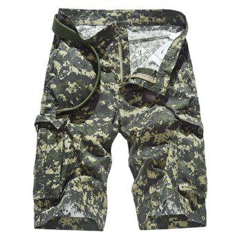 Casual Multi Pockets Camo Cargo Shorts