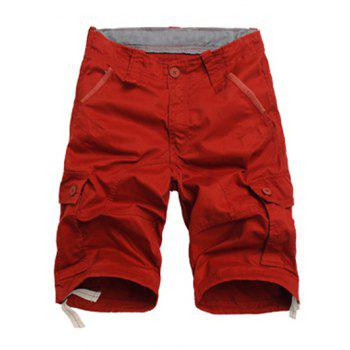 Lace Up Design Multi Pockets Cargo Shorts