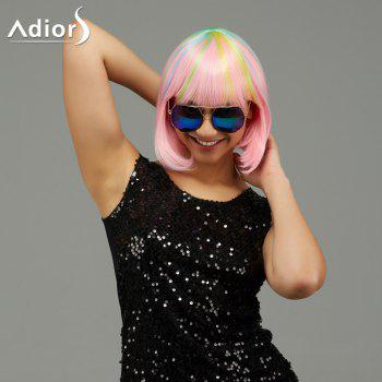 Adiors Short Straight Neat Bang Party Synthetic Wig