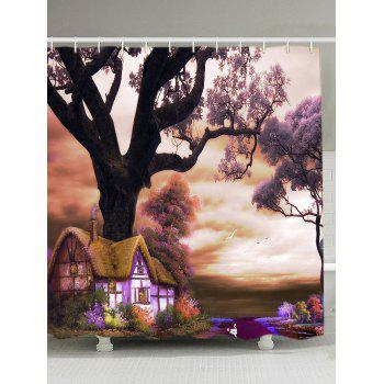 Oil Painting Nature Scenery Bath Shower Curtain