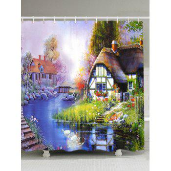 Oil Painting Scenic Fabric Shower Curtain