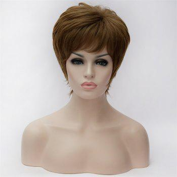 Shaggy Natural Wavy Spiffy Short Inclined Bang Capless Synthetic Light Blonde Mixed Wig For Women