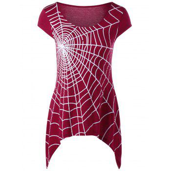 Spider Web Cap Sleeve T-Shirt