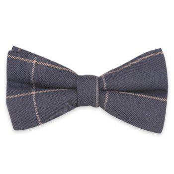 Checked Anti Wrinkle Bow Tie - CADETBLUE CADETBLUE