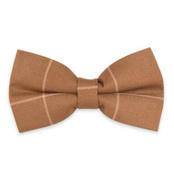 Checked Anti Wrinkle Bow Tie