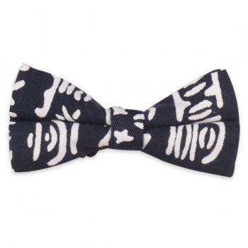 Pictogram Printed Bow Tie